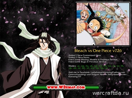 карта Bleach one piece 7.26 для warcraft 3